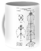 Dress Form Patent 1891  Coffee Mug