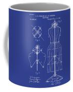 Dress Form Patent 1891 Blue Coffee Mug