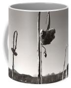 Dried Sunflower Closeup Coffee Mug