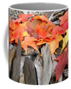 Driftwood Autumn Leaves Art Prints Baslee Troutman Coffee Mug