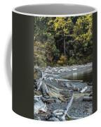 Driftwood On The Beach Sucia Island Coffee Mug