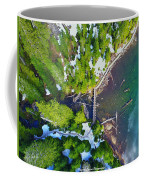 Drone Shot Of Lake 22 Bridge Coffee Mug