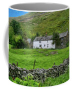 Dry Stone Wall And White Cottage - P4a16022 Coffee Mug