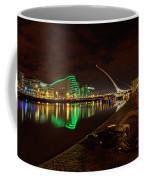 Dublin's Samuel Beckett Bridge At Night Coffee Mug