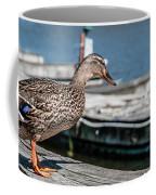 Duck About To Jump. Coffee Mug