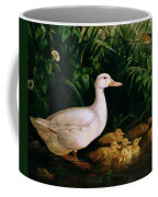 Duck And Ducklings Coffee Mug by English School