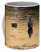 Duck And Swan At Sunrise Coffee Mug