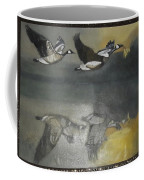 Duck Are Flying On The Sea Side Coffee Mug