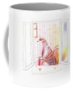Duck In A Window Coffee Mug