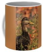Duck In Autumn Coffee Mug