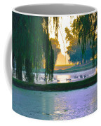 Duck Pond At Dawn Coffee Mug
