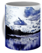 Duck Soars Little Togus Pond Storm Clouds Augusta Coffee Mug