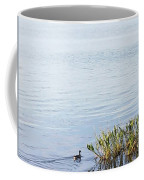 Duck Swimming In Lake Coffee Mug