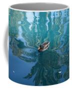 Duck Swimming In The Blue Lagoon Coffee Mug