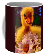 Fuzzy Duckling And Daisies Coffee Mug