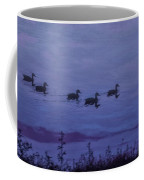 Ducks In A Row - Swimming In The Clouds Coffee Mug