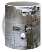 Ducks In Winter Coffee Mug