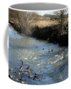 Ducks On The River In Early Spring Coffee Mug