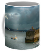 Dun Laoghaire Harbor Lighthouse Coffee Mug