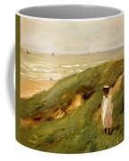 Dune Near Noordwijk With Child Coffee Mug