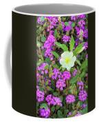 Dune Primrose Oenothera Deltoides And Purple Sand Verbena Coffee Mug