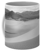 Dunes In The Valley Black And White Coffee Mug