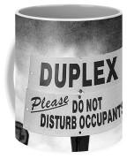 Duplex Yard Sign Stormy Sky In Bw Coffee Mug