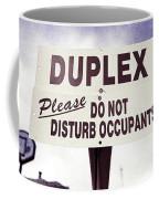 Duplex Yard Sign Stormy Sky Coffee Mug