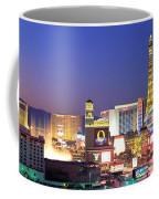 Dusk, The Strip, Las Vegas, Nevada, Usa Coffee Mug
