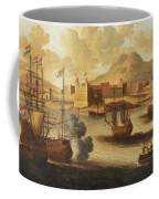 Dutch And English Warships Coffee Mug