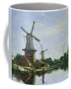 Dutch Windmills Coffee Mug by Eugene Louis Boudin