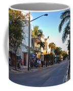 Duval Street In Key West Coffee Mug by Susanne Van Hulst