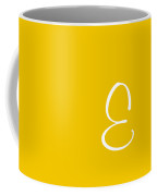 E In White Simple Script Coffee Mug