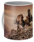 Bald Eagle And Eaglet In Nest Coffee Mug