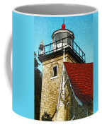 Eagle Bluff Lighthouse Re-imagined Coffee Mug