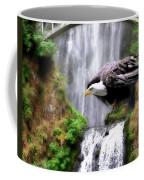 Eagle By The Waterfall Coffee Mug