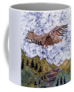 Eagle Flies Above Gorge Coffee Mug by Carol Law Conklin