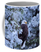 Eagle In A Frosted Tree Coffee Mug