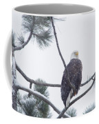 Eagle In A Pine Tree Coffee Mug