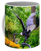 Eagle In The Garden Coffee Mug