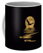 Eagle In The Moonlight Coffee Mug