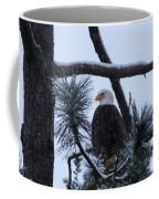 Eagle On A Frosted Limb Coffee Mug