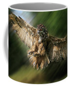 Eagle Owl Landing Coffee Mug