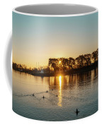 Early Birds In Teal And Orange Coffee Mug