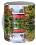Early Fall Colors Surround A Covered Bridge In Vermont Coffee Mug