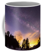 Early Morning Colorful Colorado Milky Way View Coffee Mug