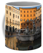 Early Morning Glow - Neptune Fountain On Piazza Navona In Rome Italy Coffee Mug