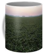 Early Morning Mist Over Soybean Fields Coffee Mug by Brian Gordon Green
