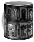 Early Morning Paseo Del Prado Havana Cuba Bw Coffee Mug