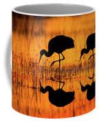 Early Morning Sandhill Cranes Coffee Mug